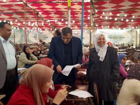 «المغربى» يواصل جولاته لتفقد الامتحانات بكليات جامعة بنها