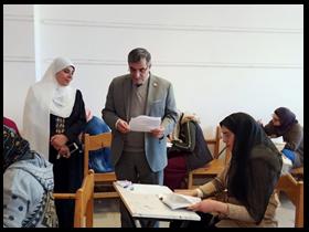 «المغربى» يتفقد سير أعمال الامتحانات والكنترولات بكليات جامعة بنها