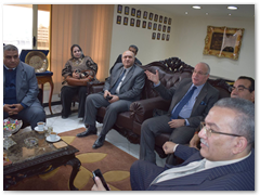 القاضي ووفد جامعة بنها في زيارة لمدير أمن القليوبية للتهنئة بأعياد الشرطة