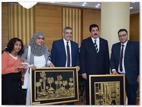 مجلس جامعة بنها يشيد بالأعمال الفنية لقسم التربيه الفنية بنوعية بنها