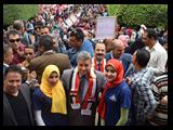 القاضي في مسيره حاشده لطلاب جامعه بنها اليوم: شباب مصر جدير بحمل أمانة مستقبل الوطن