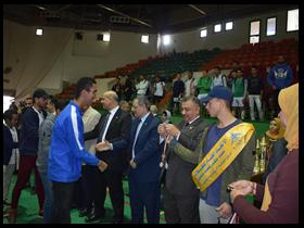 مهرجان رياضي فى ختام دوري كليات بنها للالعاب الجماعية