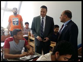 «السعيد» و«المغربى» يتفقدان الإمتحانات بكليتى العلوم والتربية الرياضية