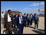 القاضي وعشماوي يتفقدان كليات جامعة بنها الجديده في كفر سعد