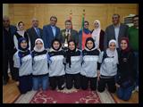 لفوزهما في أوليمبياد فتيات الجامعات: تكريم فريقي كرة السلة وكرة القدم الخماسية في جامعة بنها