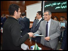 محافظ القليوبية ورئيس جامعة بنها يشهدان احتفالية تكريم طلاب المرحلة الأولى من مبادرة «صنايعية مصر» بجامعة بنها