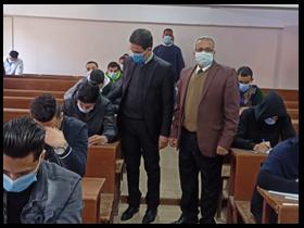 «الجيزاوى» يتفقد الامتحانات بكليات جامعة بنها ويشيد بالإجراءات الإحترازية داخل اللجان