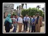 رئيس جامعة بنها يتفقد أعمال تجديد مبني إدارة الجامعة
