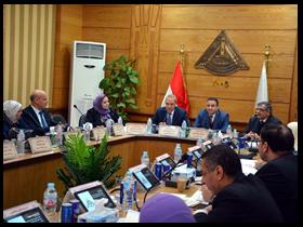 فى أول حضور لمحافظ القليوبية الجديد: «السعيد» يترأس اجتماع مجلس جامعة بنها