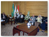 القاضي يستقبل عميد طب الهاشمية الأردنية
