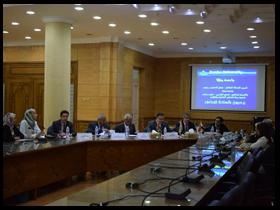 خلال إستقباله وفد جامعة رأس الخيمة: السعيد يشيد بالعلاقات المصرية – الإماراتية