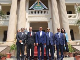 رئيس جامعة بنها يستقبل أمين المجلس الأعلى للجامعات