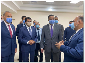 علي هامش مناقشة رسالة دكتوراة: محافظ القليوبية ورئيس جامعة بنها يستقبلان وزير الشباب والرياضة
