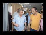 في زياره مفاجئه لمستشفيات جامعة بنها القاضي يطمئن علي سير العمل