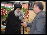 زيارة كاتدرائيه بنها لتهنئه الاخوه المسيحين بأعياد الميلاد المجيد