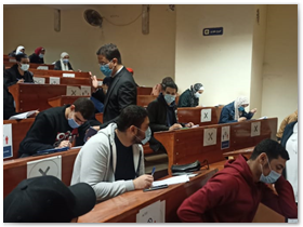 «الجيزاوى» يتابع لجان الامتحانات بكليتى الحاسبات والذكاء الاصطناعي والتربية النوعية