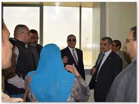 «السعيد» و«المغربى » يتفقدان منشآت جامعة بنها الجديدة بالعبور