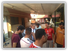 رئيس جامعة بنها يتفقد المدينة الجامعية بكفر سعد