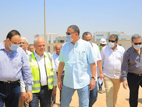 رئيس جامعة بنها يتفقد المنشأت الجديدة بالعبور ومشتهر وكفر سعد