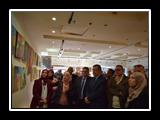 افتتاح معرض الفن التشكيلي برؤية معاصره لطلاب نوعية بنها