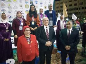 جامعة بنها تحصد 5 ميداليات في فى أسبوع فتيات الجامعات بالفيوم