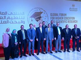 المنتدى العالمي الأول للتعليم العالي والبحث العلمي يختتم أعماله بمشاركة وفد من جامعة بنها