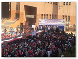 وقفة جامعة بنها للتضامن مع القوات المسلحه والشرطه