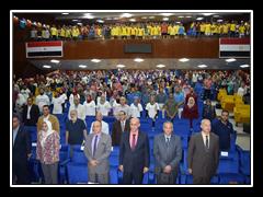 محافظ القليوبية ورئيس جامعة بنها يشهدان مؤتمر «إنت أقوى من المخدرات»