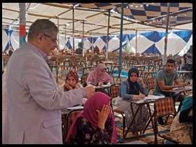 «المغربي» يتفقد امتحانات كليتى التربية والتربية الرياضية بجامعة بنها ويتابع عمليات التصحيح الالكتروني