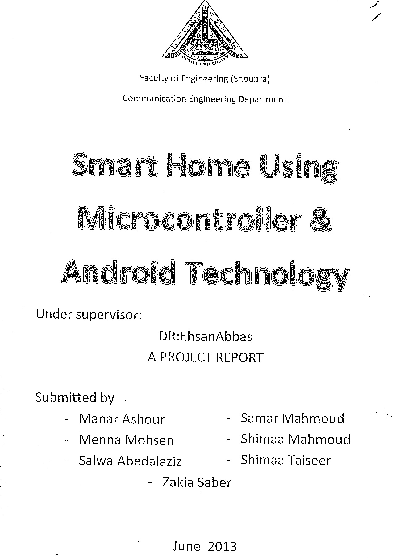 Benha University Graduation Projects For Dummies Electronics Engineering Project
