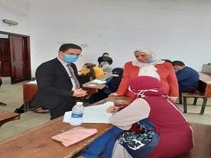الجيزاوي يتفقد الامتحانات بكليتى التربية والتمريض